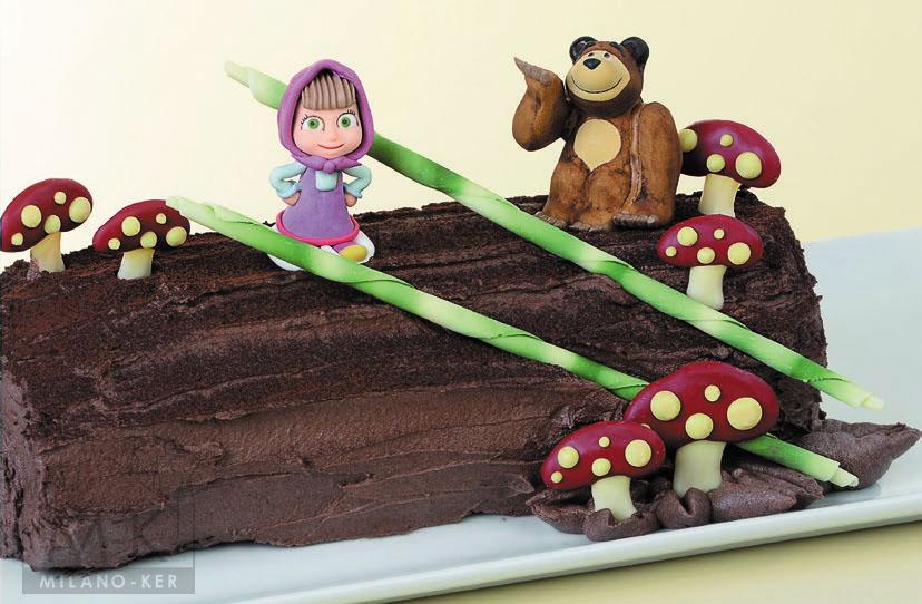 mása és a medve torta ostya